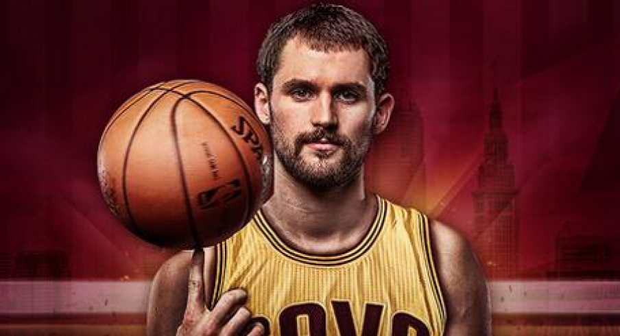 Kevin Love joins LeBron James and Kyrie Irving in Cleveland