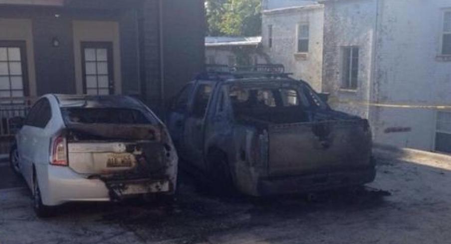 Arkansas QB's car possibly a victim of arson