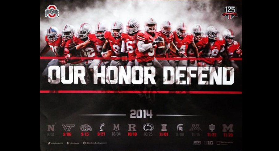 Ohio State's 2014 football schedule poster is pretty fresh.