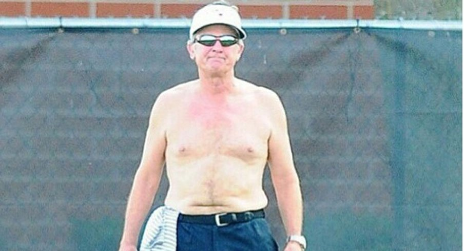 Shirtless Spurrier saw his shadow. Let's play some football.