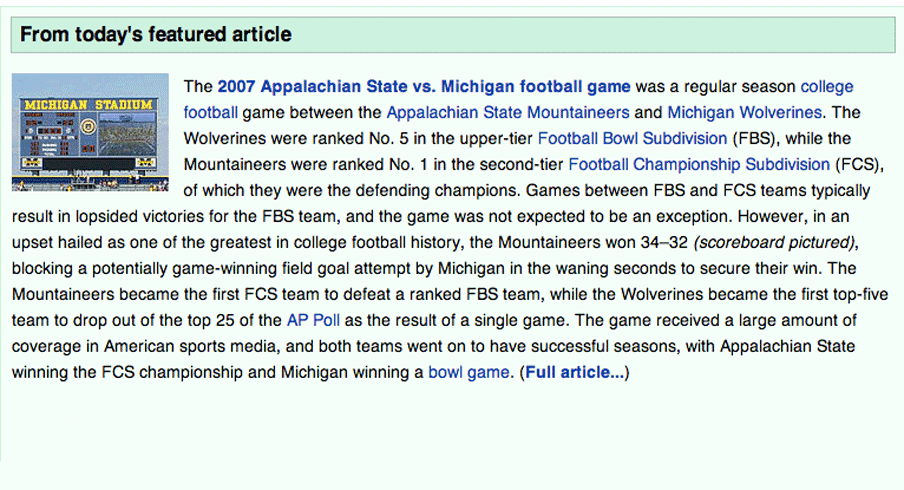 Wikipedia wins Friday and it's not even close.