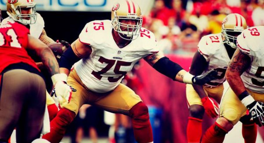 Alex Boone in NFL action against the Tampa Bucs