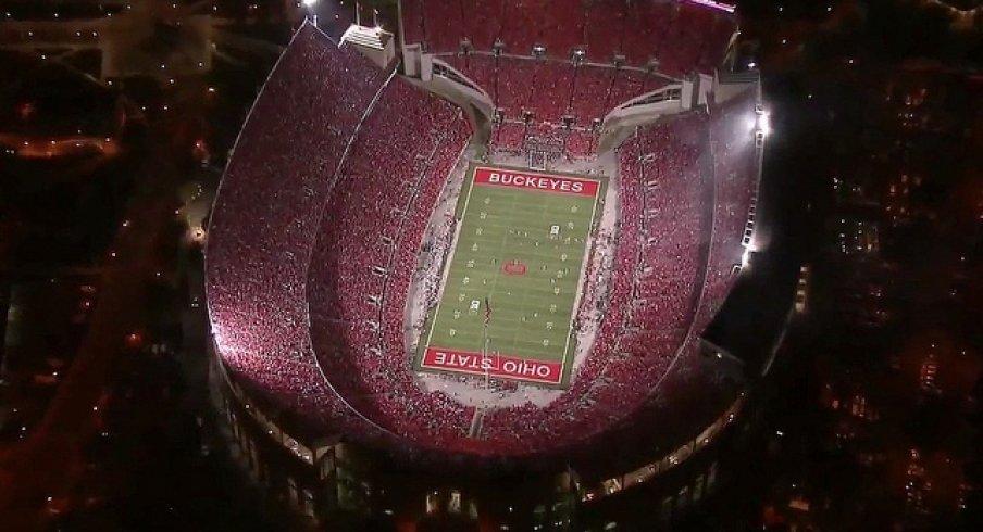 Ohio Stadium is loud for primetime games.
