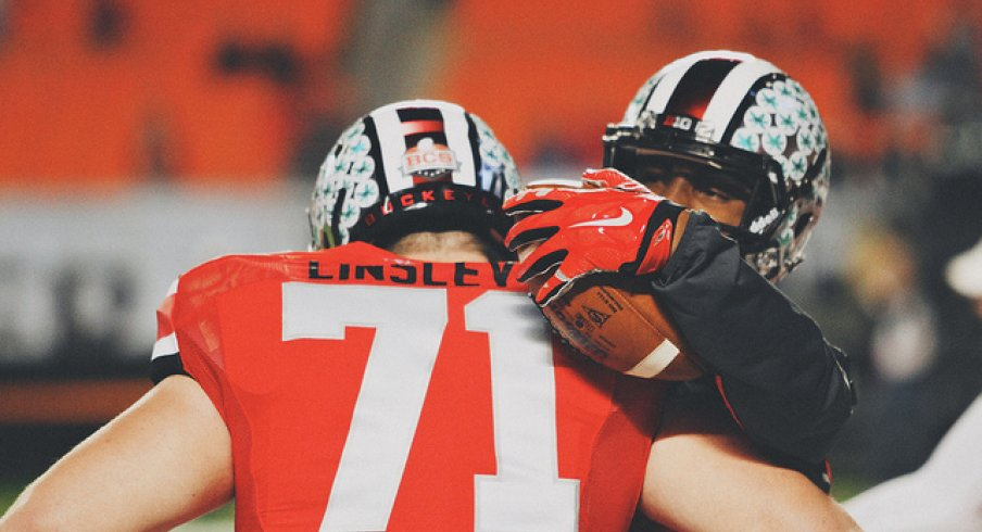 Corey Linsley and Braxton Miller