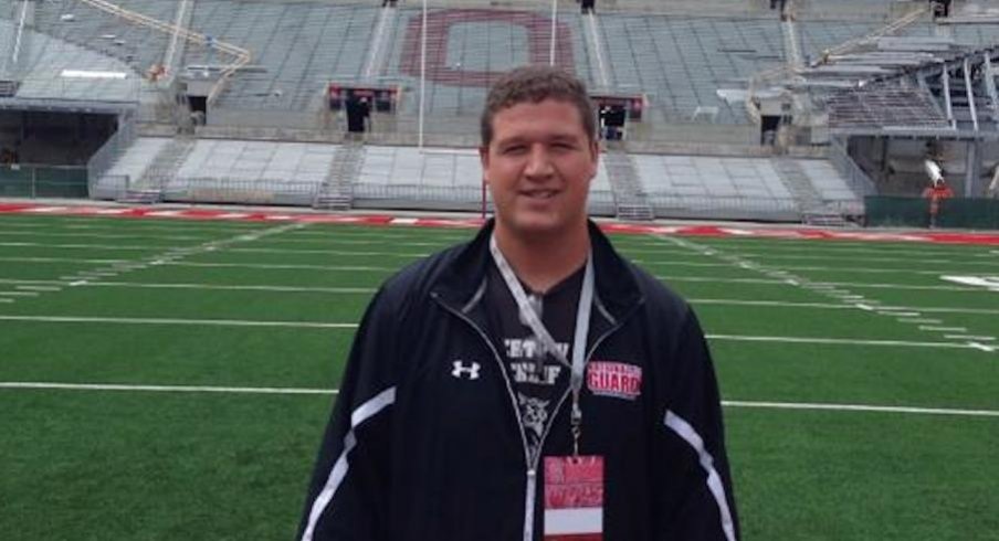 Kieffer Longson during Ohio State visit this past June