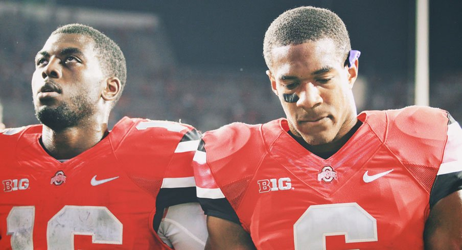J.T. Barrett and Evan Spencer following Ohio State's loss to Virginia Tech.