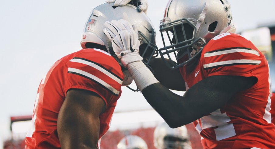 Ohio State briefly set a school record for total yardage Saturday night.