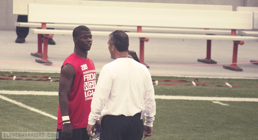 Jerome Baker and Urban Meyer