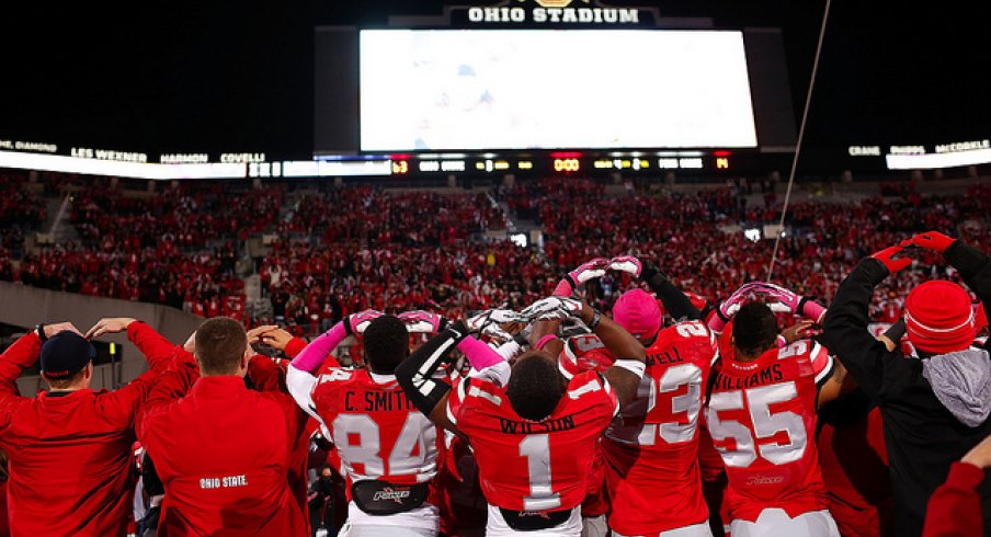 Ohio State sings the alma mater after dumping Penn State last year 16787bbd3