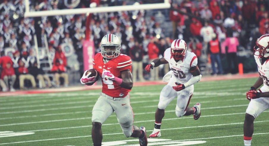 Curtis Samuel rolls out vs. Rutgers