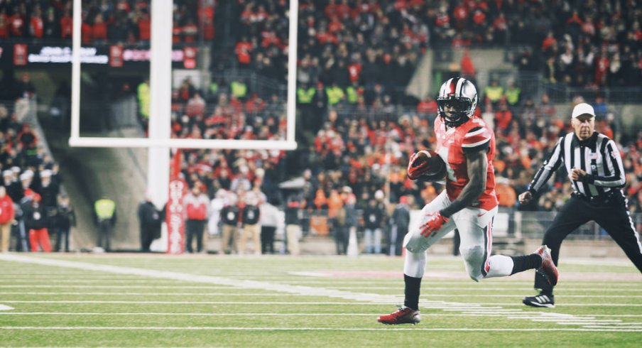 No one got close to touching Curtis Samuel on his 23-yard TD