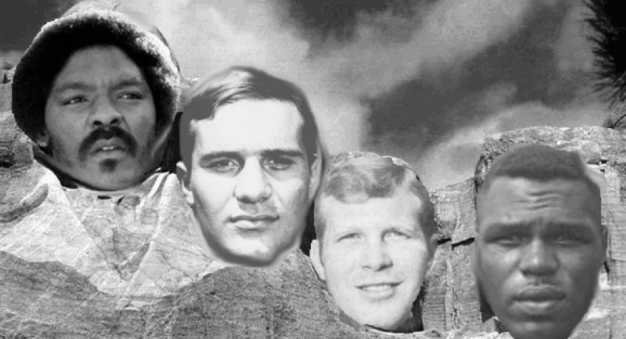 Mount Buckmore for the 60's features Jack Tatum, Jim Stillwagon, Rex Kern and Bob Ferguson.