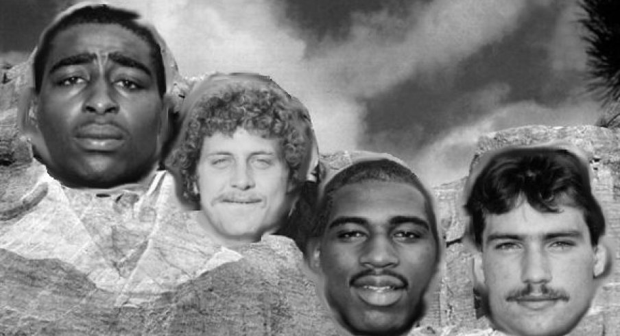 Mount Buckmore for the 80s features Cris Carter, Marcus Marek, Keith Byars and Chris Spielman.