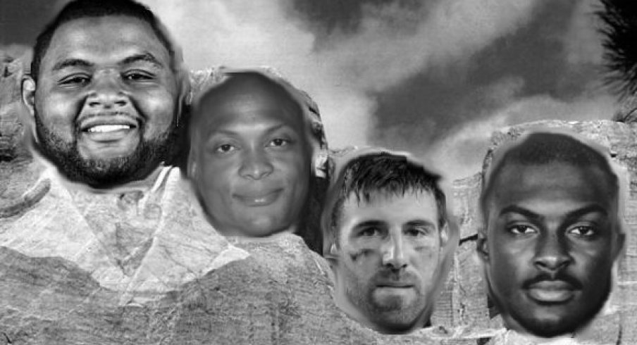 Mount Buckmore for the 90s features Orlando Pace, Eddie George, Mike Vrabel and Antoine Winfield.