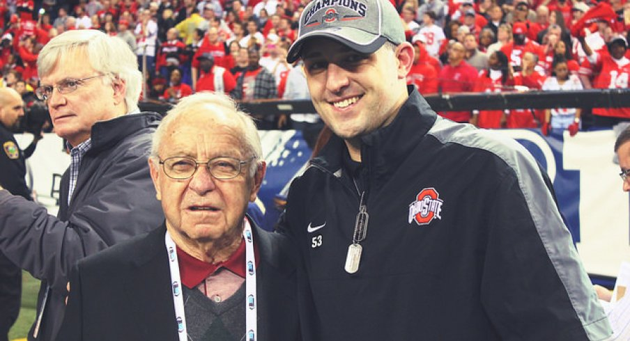 earle bruce and his grandson, zach smith