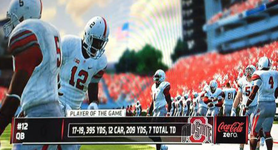 Cardale Jones had no mercy in NCAA Football at Nationwide Children's Hospital.