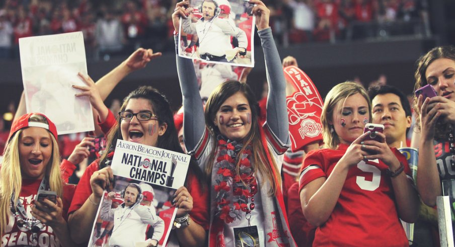 Ohio State fans in 'Big D'