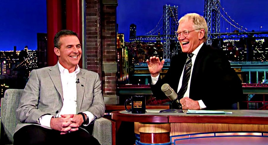 Urban Meyer on the Late Show with David Letterman last Friday night.