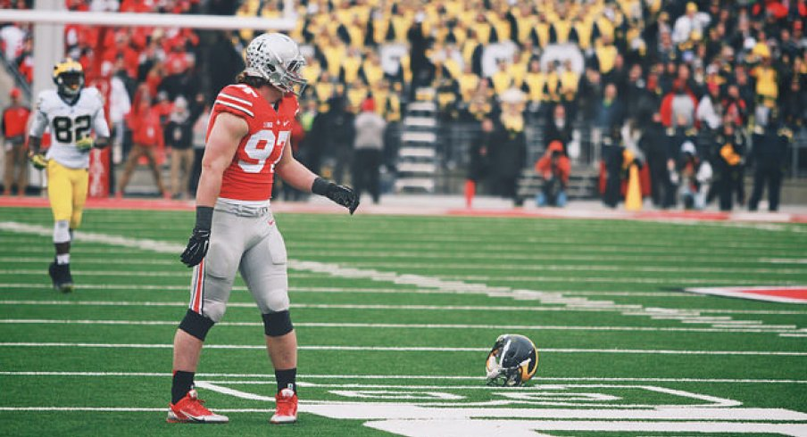 Joey Bosa after decapitating a man.