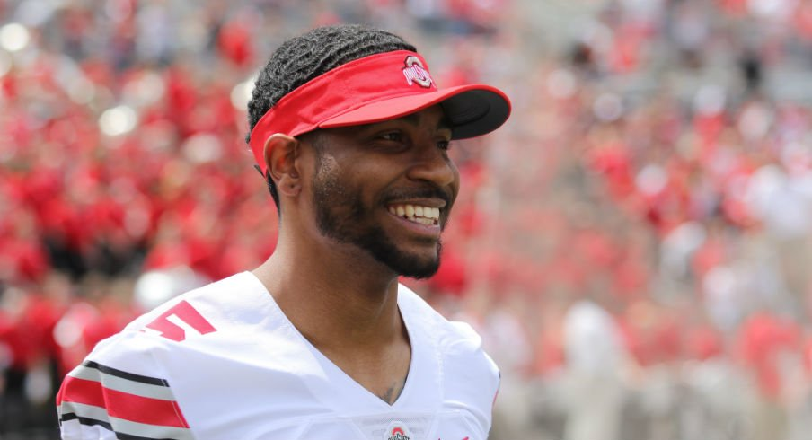 Braxton Miller looks psyched about his upcoming move to right tackle.
