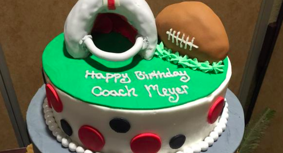 For His 51st Birthday Urban Meyer Receives A Buckeye Themed Cake
