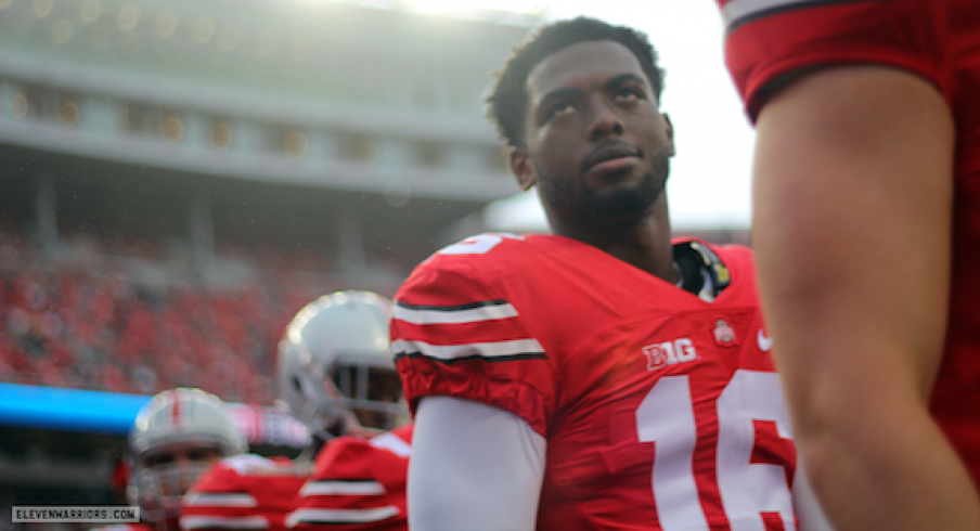 J.T. Barrett prior to the Northern Illinois game.