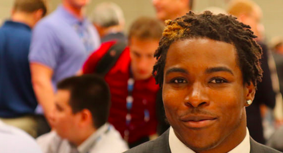 Corey clement at BTN media days.