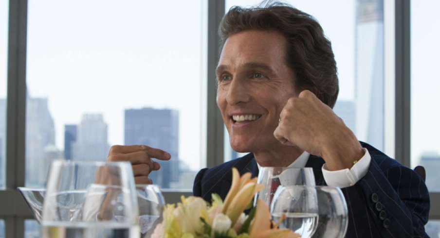 McConaughey played a coke-zealot banker in Wolf of Wall Street.