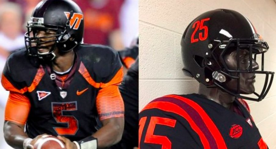 100% authentic db2e1 9d08e Virginia Tech Honors Frank Beamer with Alternate Jerseys for ...