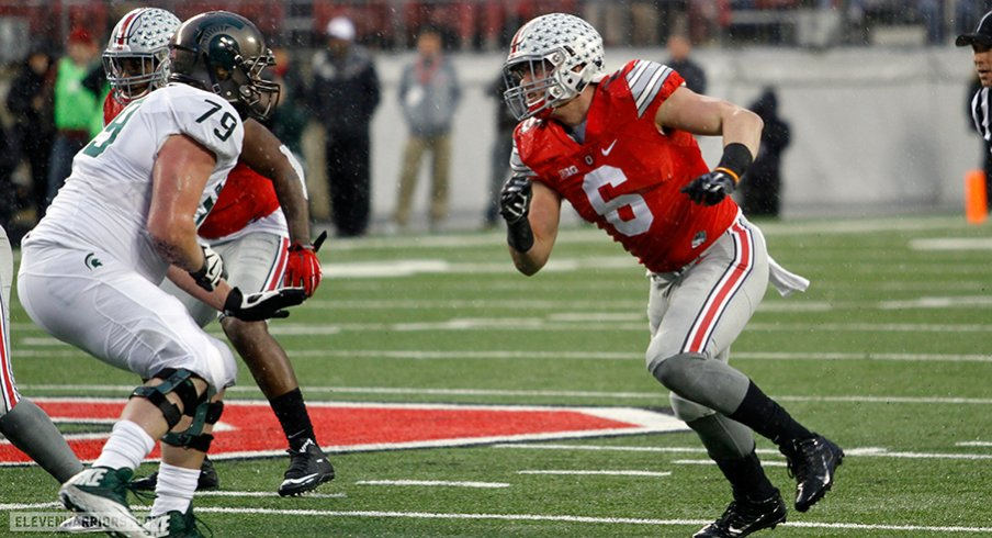 Sam Hubbard provided one of Ohio State's few highlights in a 17-14 loss to Sparty.