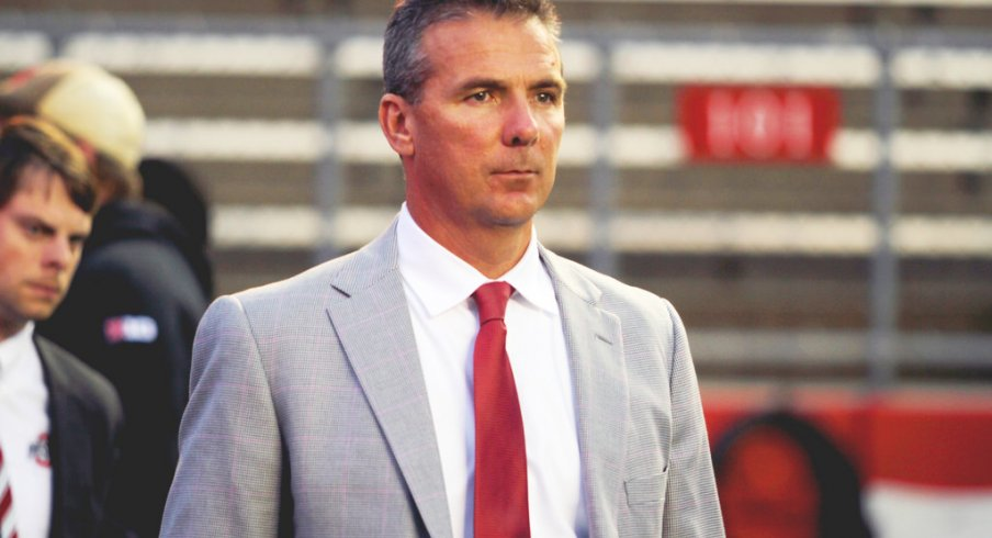 Urban Meyer addressed the media Thursday at the Woody Hayes Athletic Center.