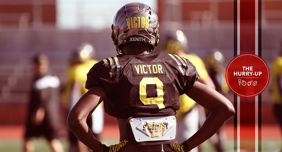 Binjimen Victor is once again the most likely answer at wide receiver.