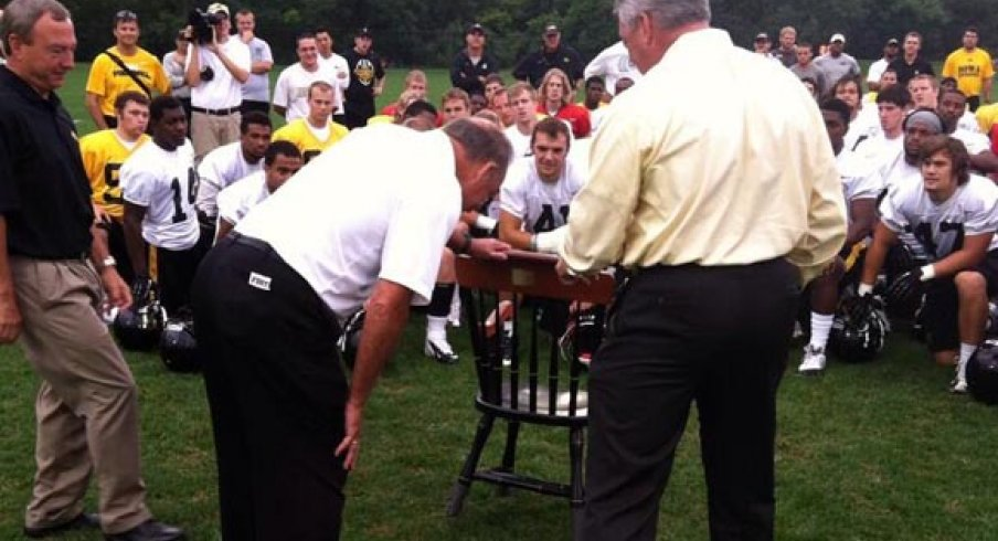 Iowa gave Jim Delany a chair. No, really.