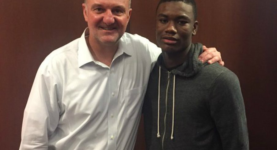 Markell Johnson with Thad Matta after OSU's loss to Maryland.