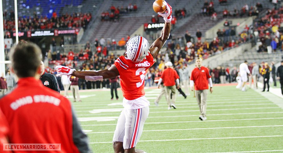 Michael Thomas is used to showing off one-handed catches.