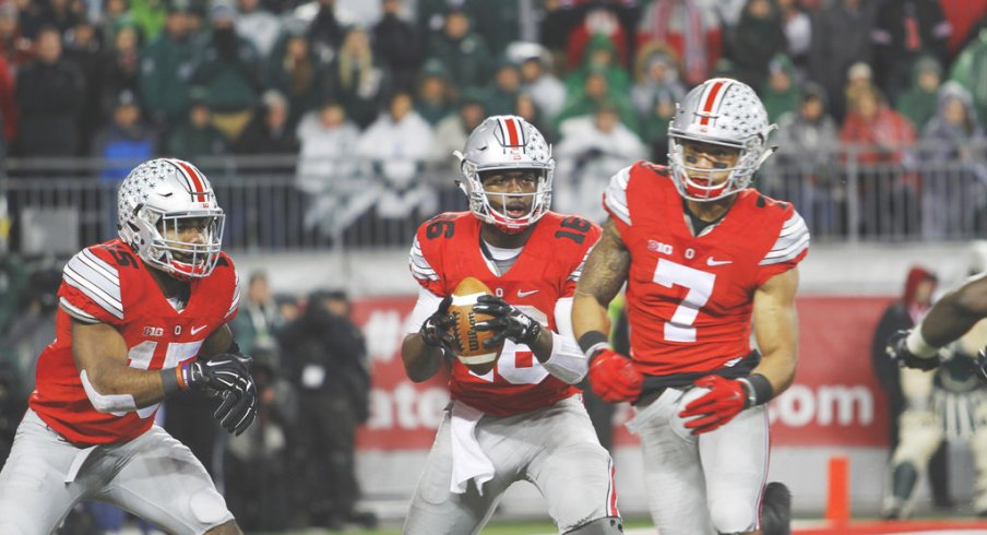 J.T. Barrett may increasingly find the backfield more crowded in the future