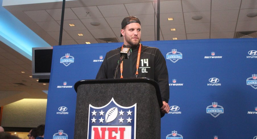 Taylor Decker is one of 14 Buckeyes at the NFL Combine this week.