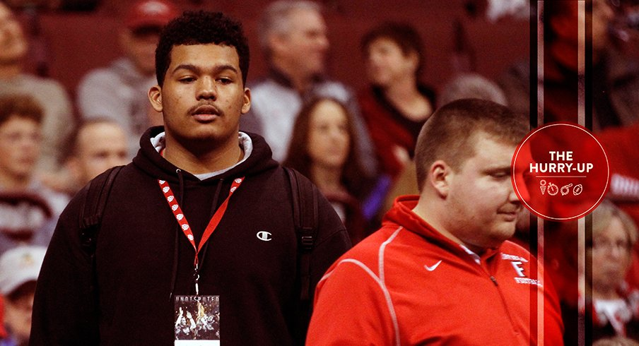 Ohio State 2018 offer Jackson Carman during a visit with the Buckeyes.