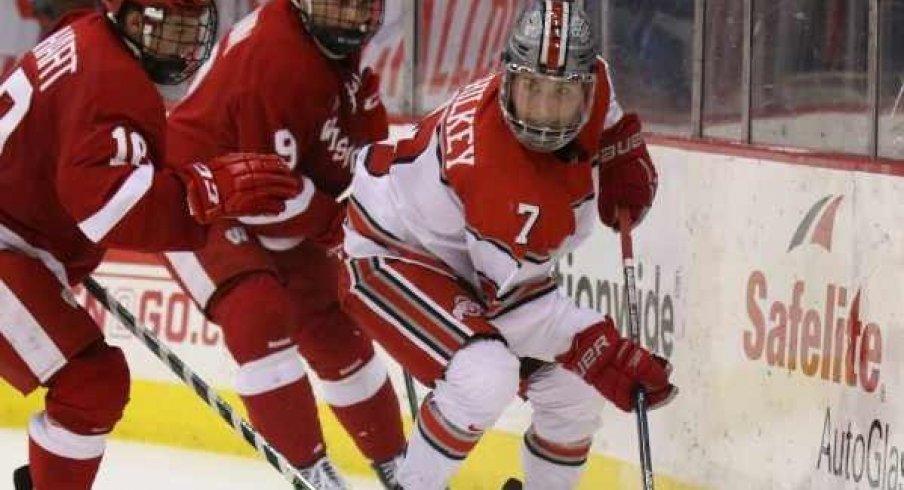 Ohio State forward Nick Schilkey is Big Ten Hockey's First Star of the Week.