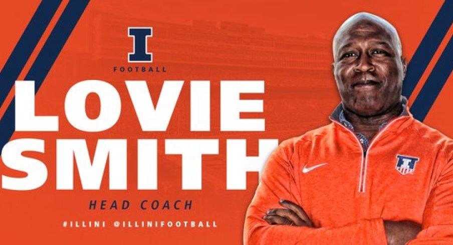 Illinois officially hires Lovie Smith as its next head football coach.