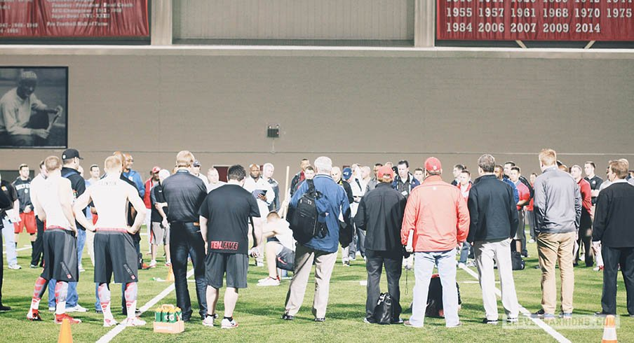 NFL scouts, coaches and general managers take in Ohio State's Pro Day