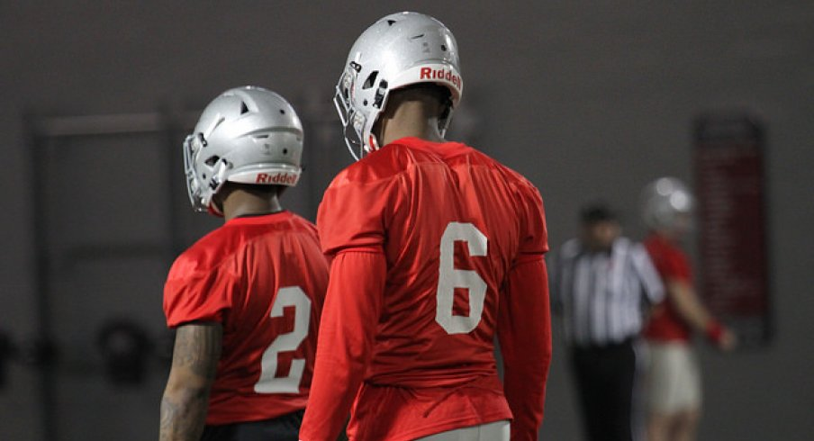 Dontre Wilson and Mike Weber