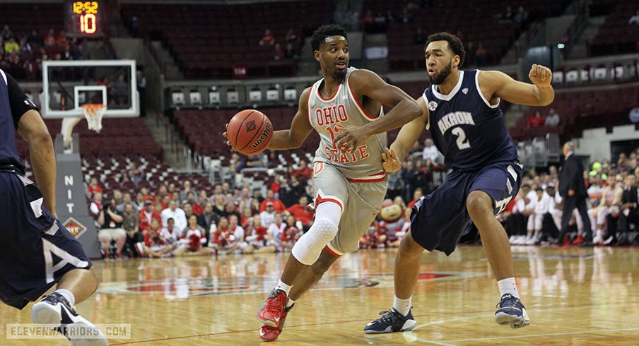 Ohio State beat Akron in the first round of the NIT Tuesday.