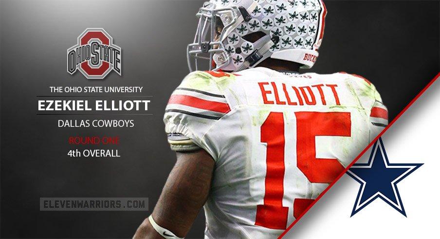 48d51613fe5 Ezekiel Elliott drafted by Dallas.