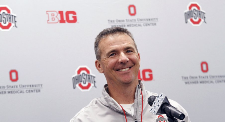 Urban Meyer is all smiles.