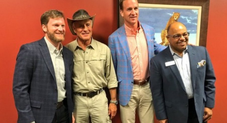 Dale Earnhardt Jr., Jack Hanna, Peyton Manning, and Mike Tirico