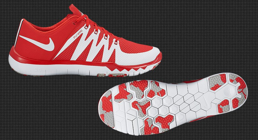03f6f50404 Nike Releases Ohio State Buckeyes Game Trainer 5.0 Flywire Shoes ...