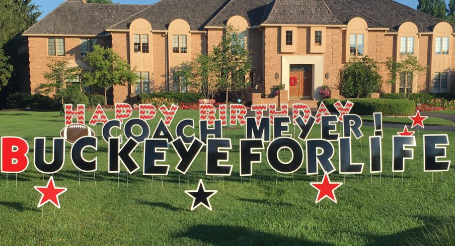 For His 52nd Birthday Urban Meyer Awoke To Some Decor