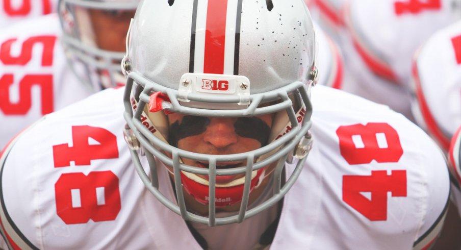 Ohio State senior linebacker Joe Burger