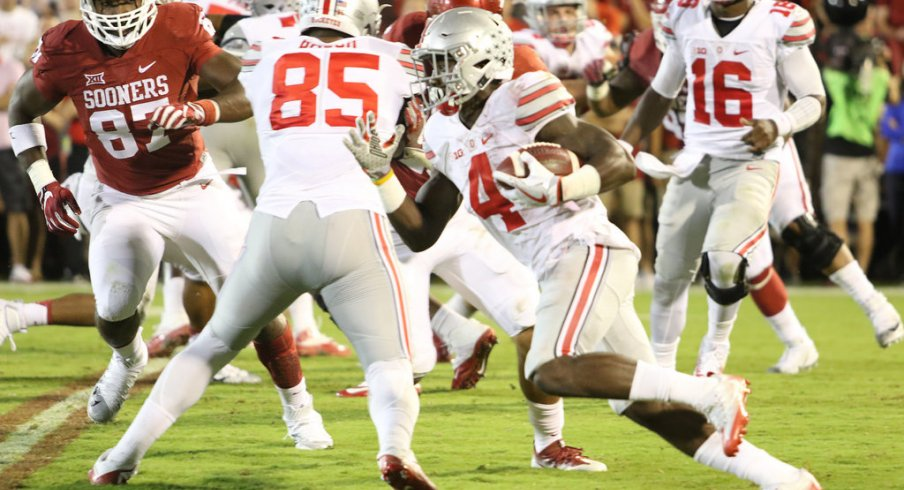 Samuel has been the focal point of Buckeye game plans so far in 2016